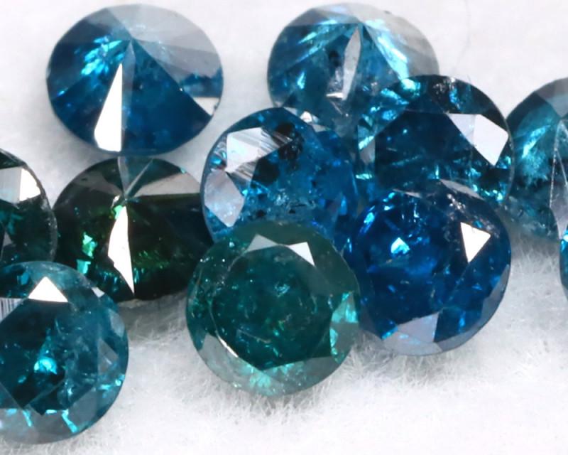 1.00Ct 2.3mm Natural Calibrate Size Vivid Titanic Blue Diamonnd Lot BM0359