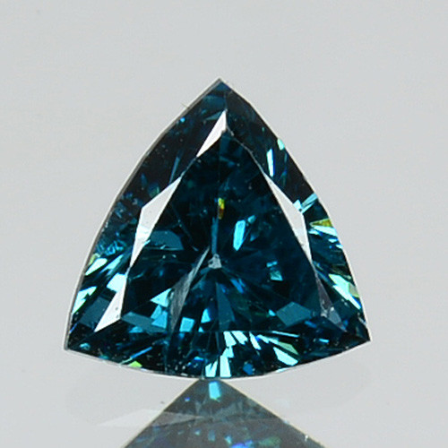 0.17 Cts Natural Electric Blue Diamond Trillion Cut Africa
