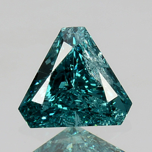 0.25 Cts Natural Electric Blue Diamond Fancy Trillion Cut Africa