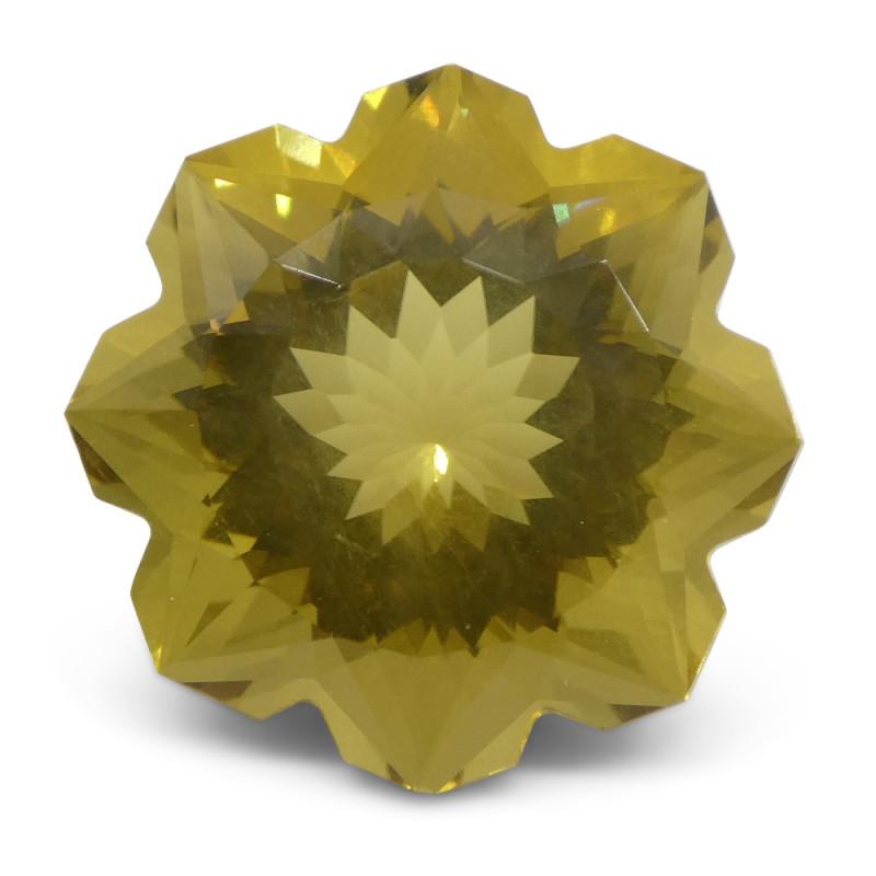 6.24ct Flower Lemon Citrine Fantasy/Fancy Cut-$1 No Reserve Auction
