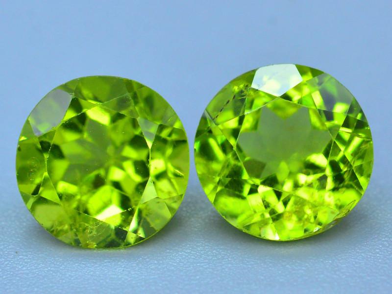 Pair Peridot~5.60 Ct Natural Green