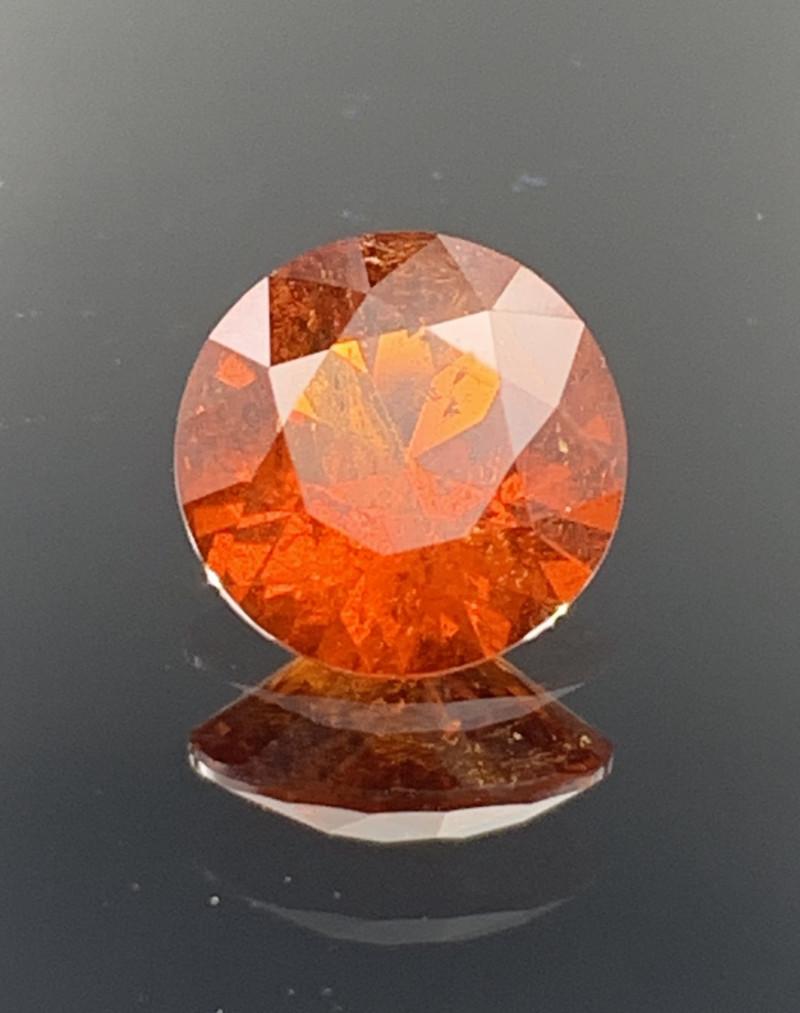 ROUND 2.30 CT Spessartite Garnet Gemstone top Luster