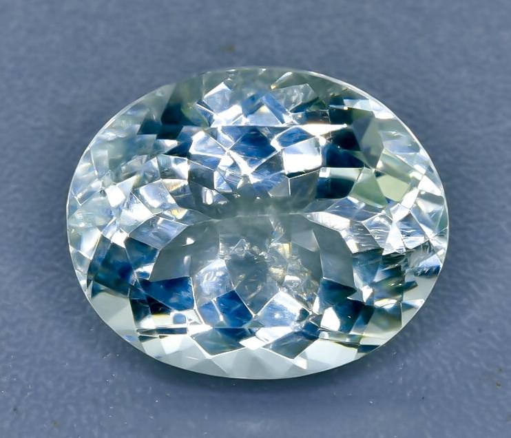 17.30 Crt  Green Prasiolite Amethyst Faceted Gemstone (Rk-68)