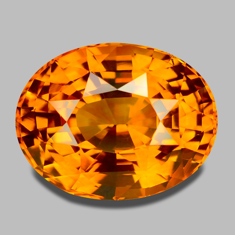 GIA certified, exquisite top gem quality orangey yellow sapphire.