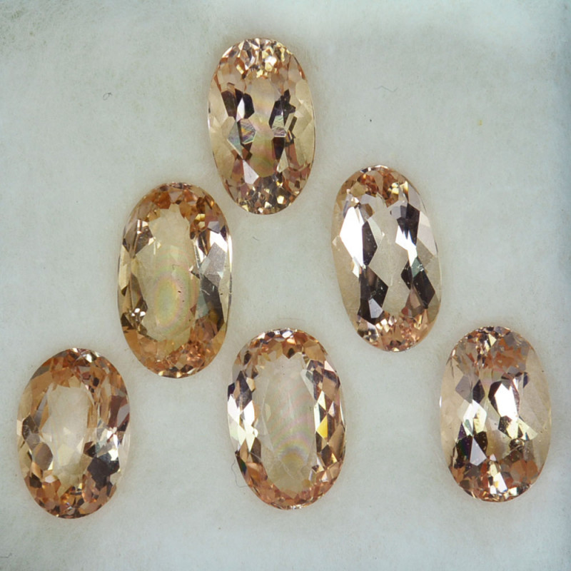 8.38Ct Natural  Peach Pink Morganite Oval Parcel Brazil