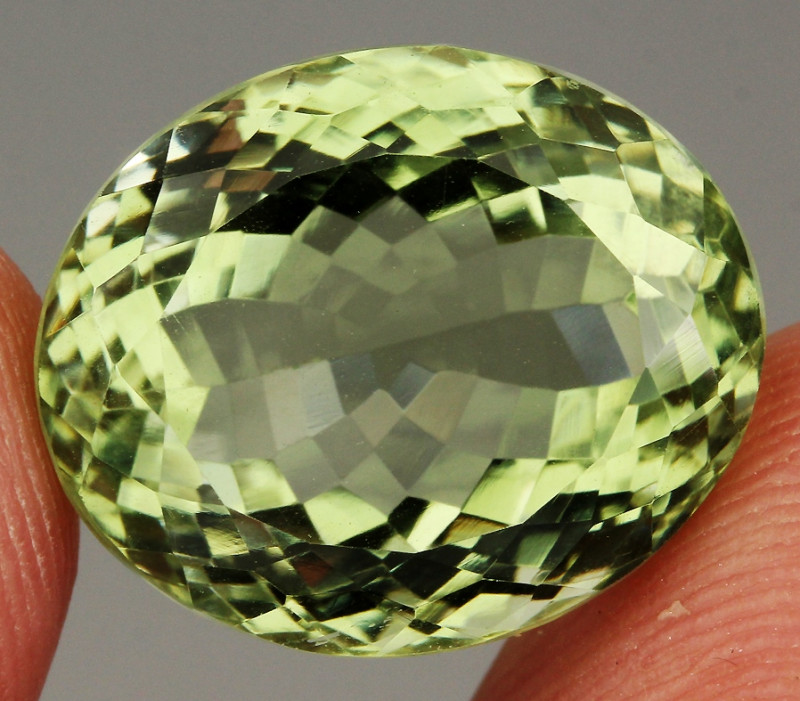 23.23 ct. 100% Natural Earth Mined Green  Amethyst   Brazil