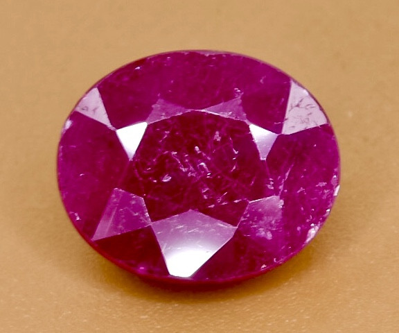 2.86 Crt Natural Ruby Faceted Gemstone.( AB 93)