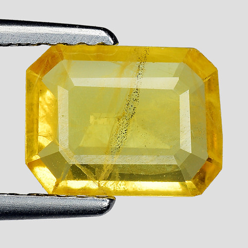 1.32 Cts Yellow Sapphire Sparkling Intense SY19