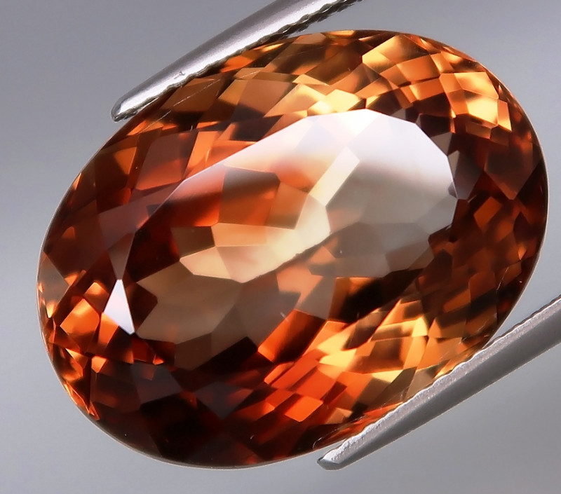 24.61 ct. 100% Natural Earth Mined Topaz Orangey Brown Brazil