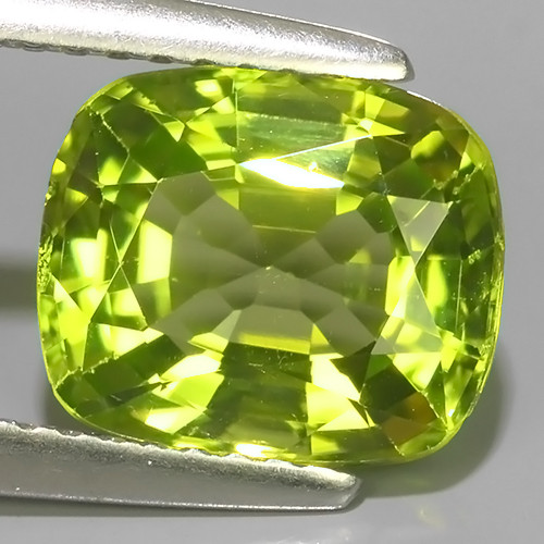 3.00 CTS AWESOME NATURAL RARE GREEN PERIDOT CUSHION EXCELLENT~BURMISE!!