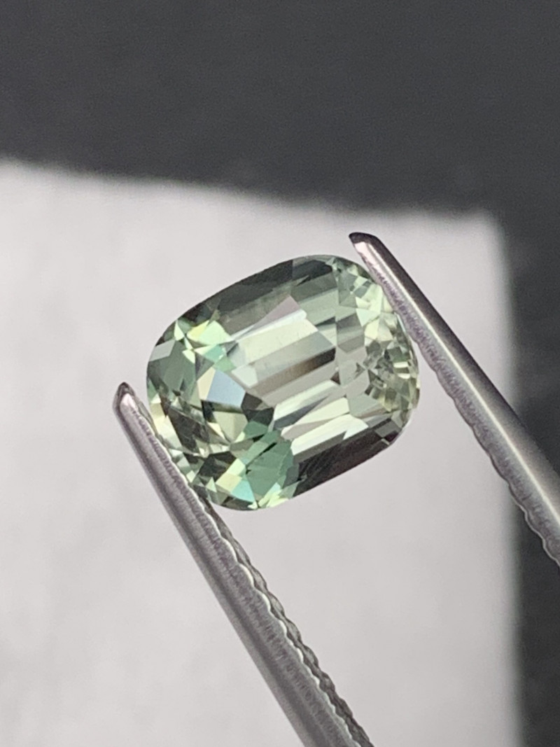 1.37 Cts Mint Green Top Grade Tourmaline Custom Cut
