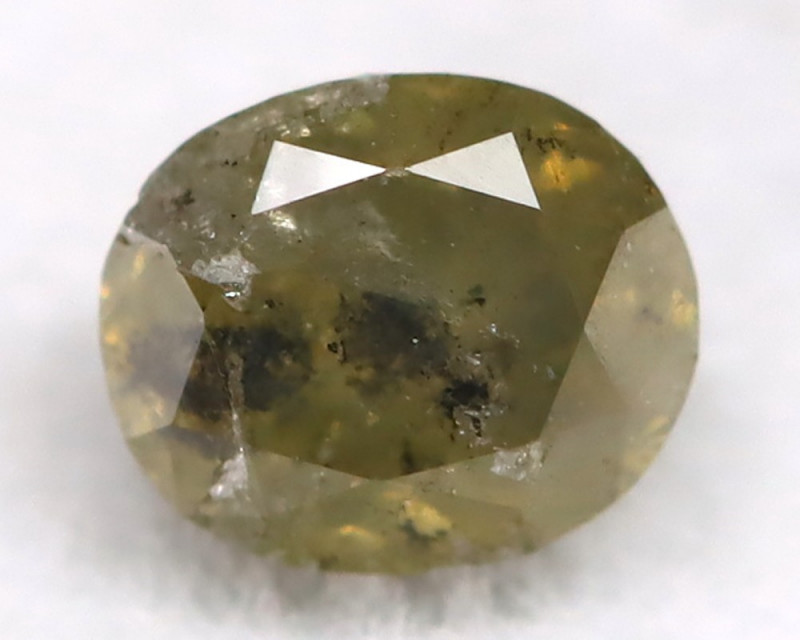 0.29Ct Natural Untreated Fancy Grayish Green Diamond BM0406