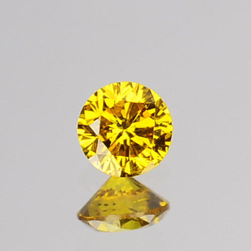 0.05 Cts Natural Diamond Vivid Yellow 2.44mm Round Cut Africa