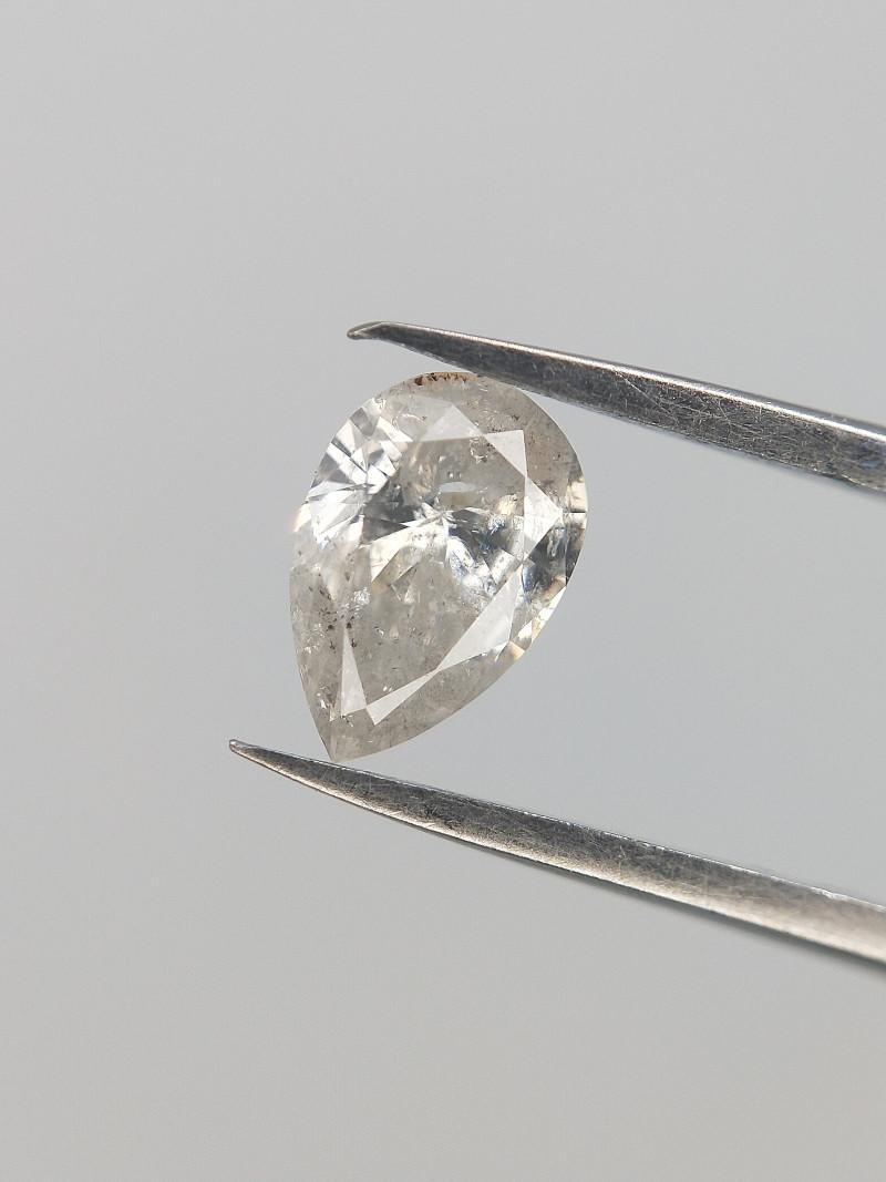 0.21 CTS , Salt And Pepper Diamond , White Diamond  , Rare Natural Diamond