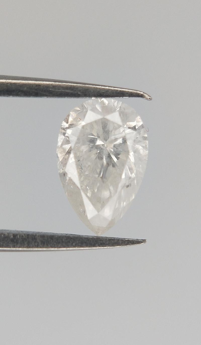 0.20 CTS , White Diamond , Pear Brilliant cut , untreated Diamond