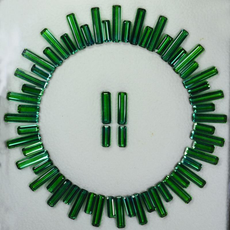 90.65Ct Natural Bluish Green Natural Tourmaline Necklace set Brazil