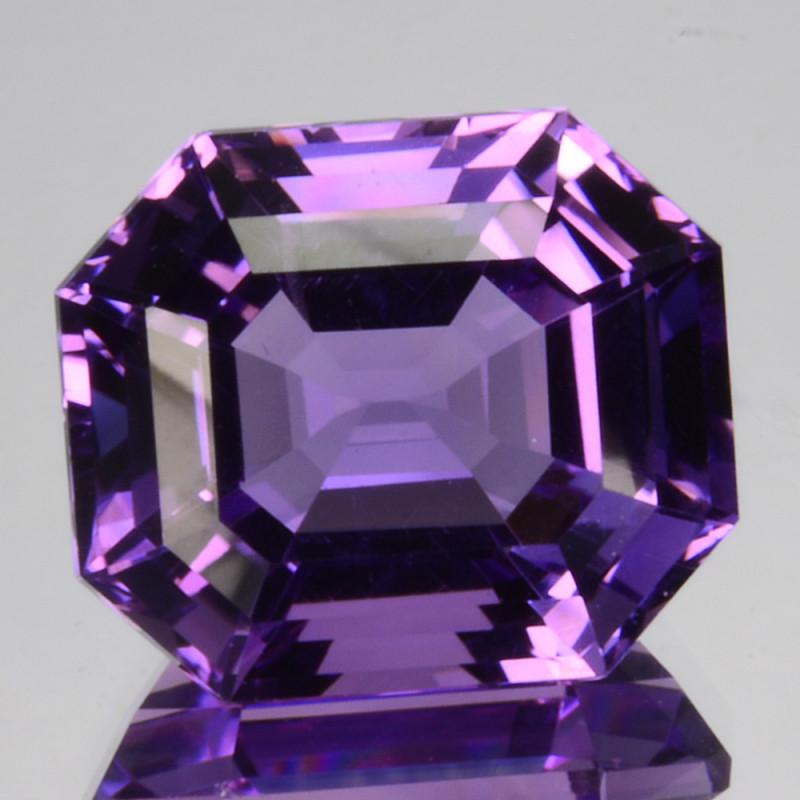 8.42Ct Natural Purple Amethyst  Fancy Octagon Brazil