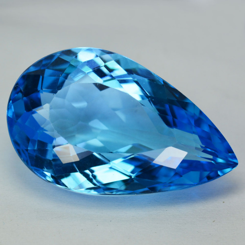 30.25Ct Natural Baby Blue Topaz Pear