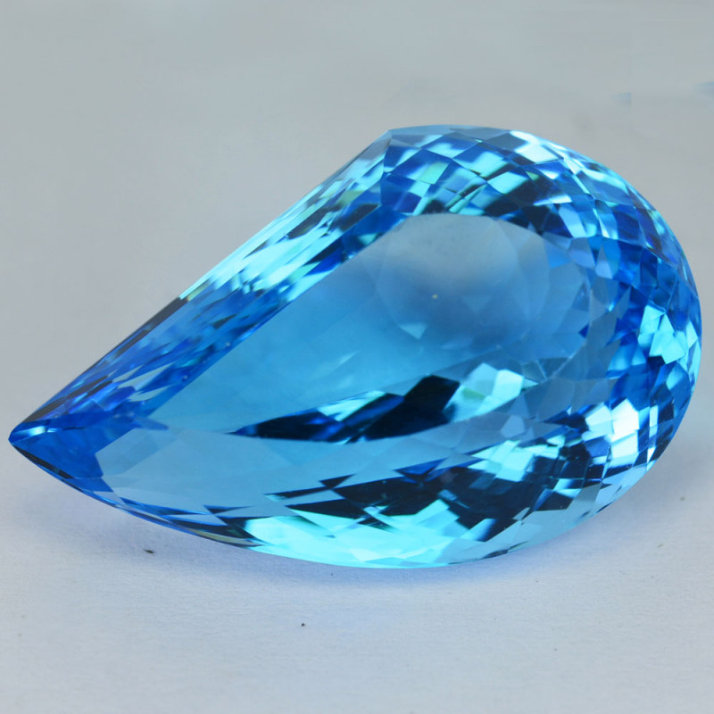 50.500Ct Natural Baby Blue Topaz Fancy 30 X 18mm  Pear