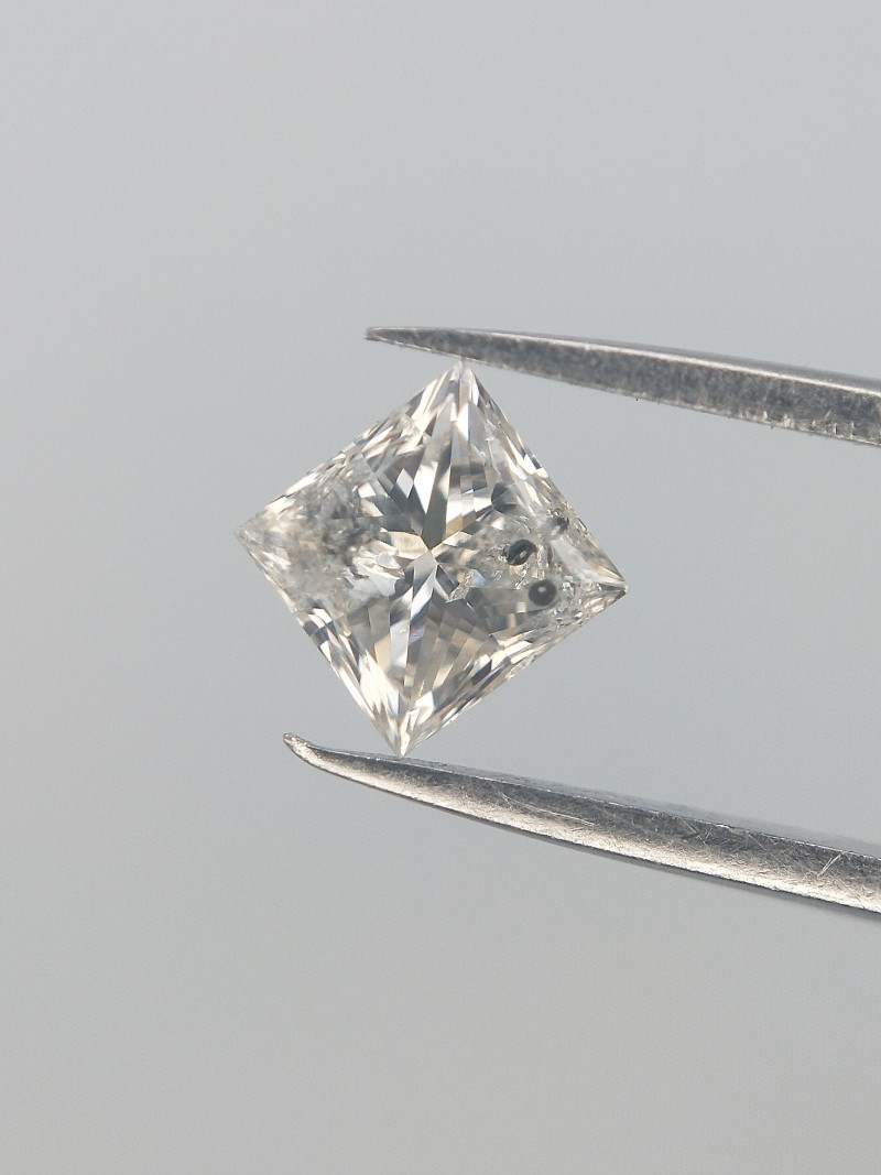 0.24 cts , Salt and Pepper diamond , Natural White Brilliant
