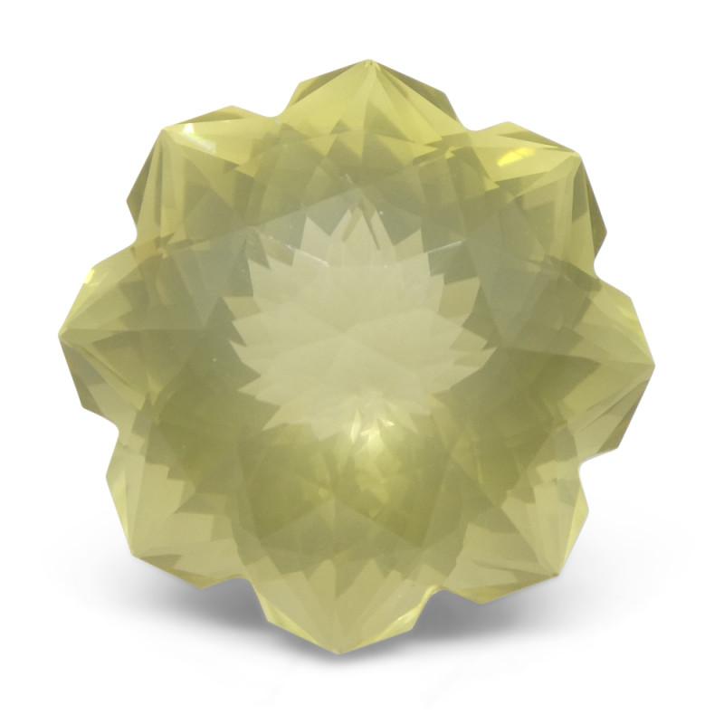 12.13ct Flower Lemon Citrine Fantasy/Fancy Cut