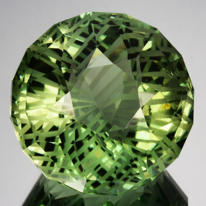 ~CUSTOM CUT~ 52.60 Cts Natural Prasiolite / Amethyst Fancy Round Brazil