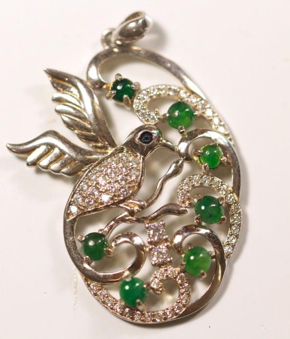 Natural Grade A Jadeite Jade Silver925 Pendant