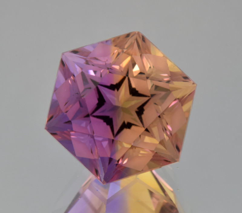 Natural Bolivian Ametrine 11.27 Cts Perfectly Cut Gemstone