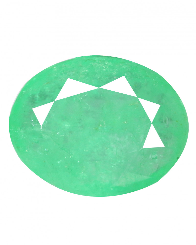 2.86 Cts Natural Rich Green Colombian Emerald Loose Gemstone