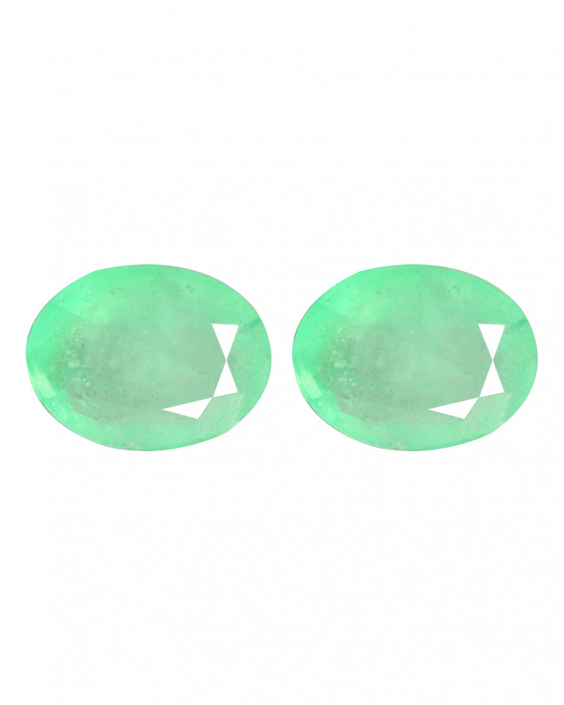 3.90 Cts 2 PCS Paired Natural Rich Green Colombian Emerald Gemstone