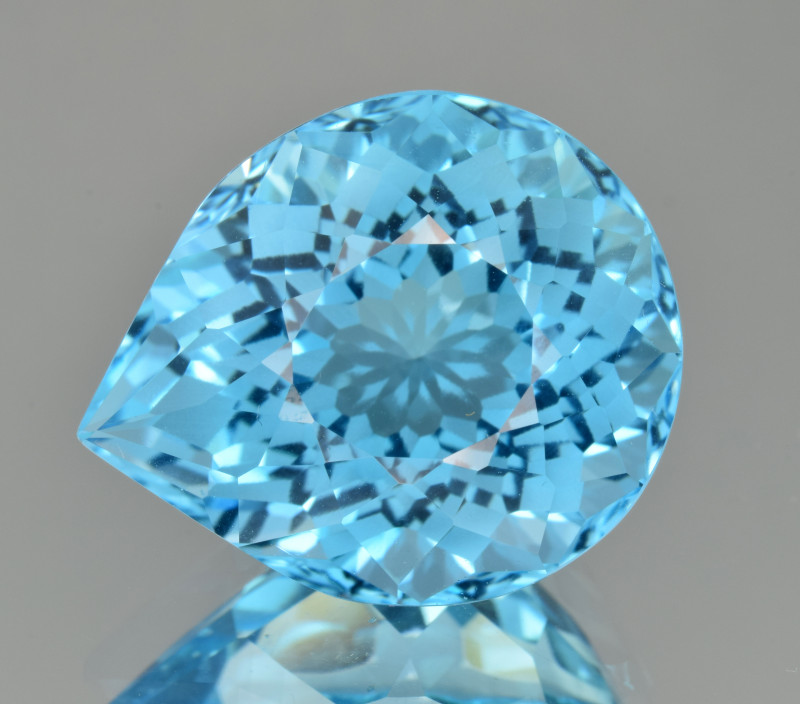 Natural Blue Topaz 22.39 Cts Perfect Precision Cut
