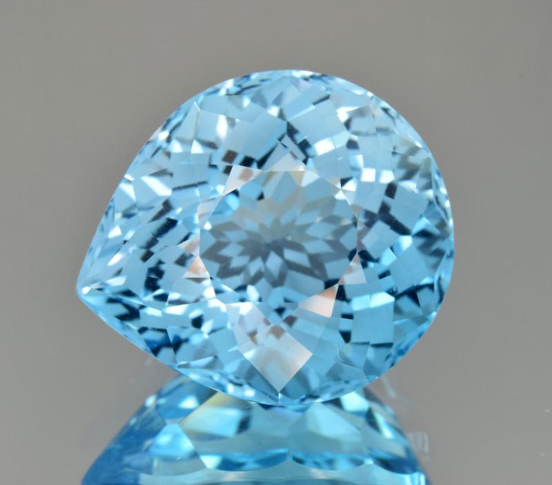 Natural Blue Topaz 24.20 Cts Perfect Precision Cut