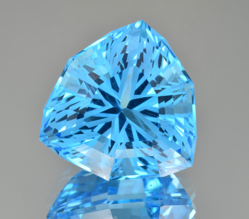 Natural Blue Topaz 34.63 Cts Perfect Precision Cut