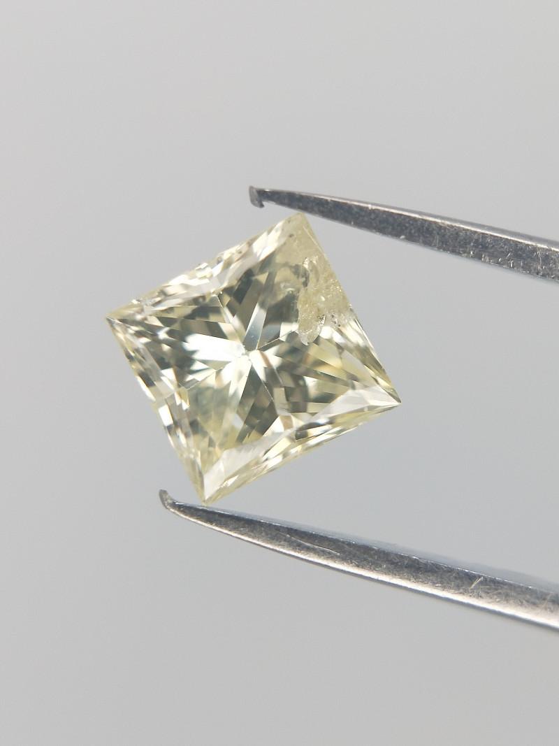 0.46 CTS , Light Yellow Diamond , Square Cut Diamond , Diamond For Ring