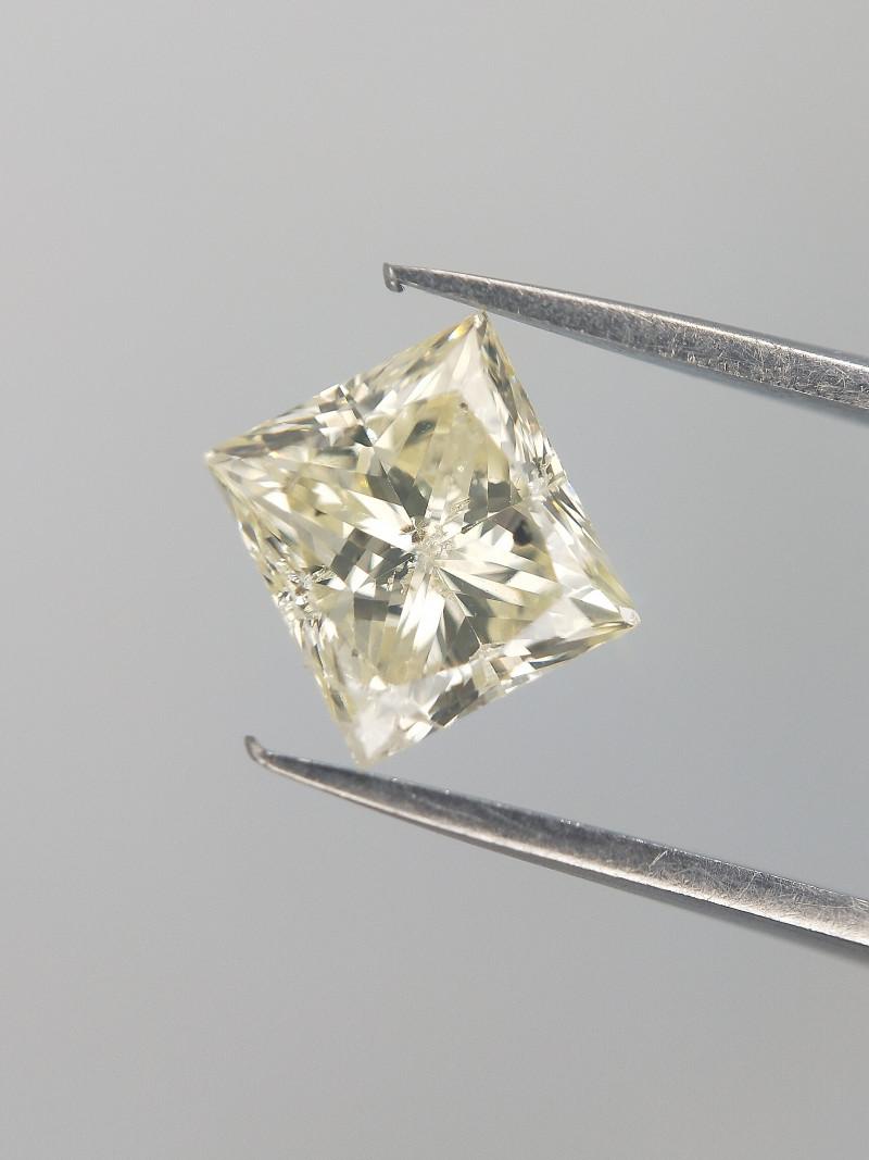 0.74 CTS , Rare Princess Cut Diamond , Light Color Diamond