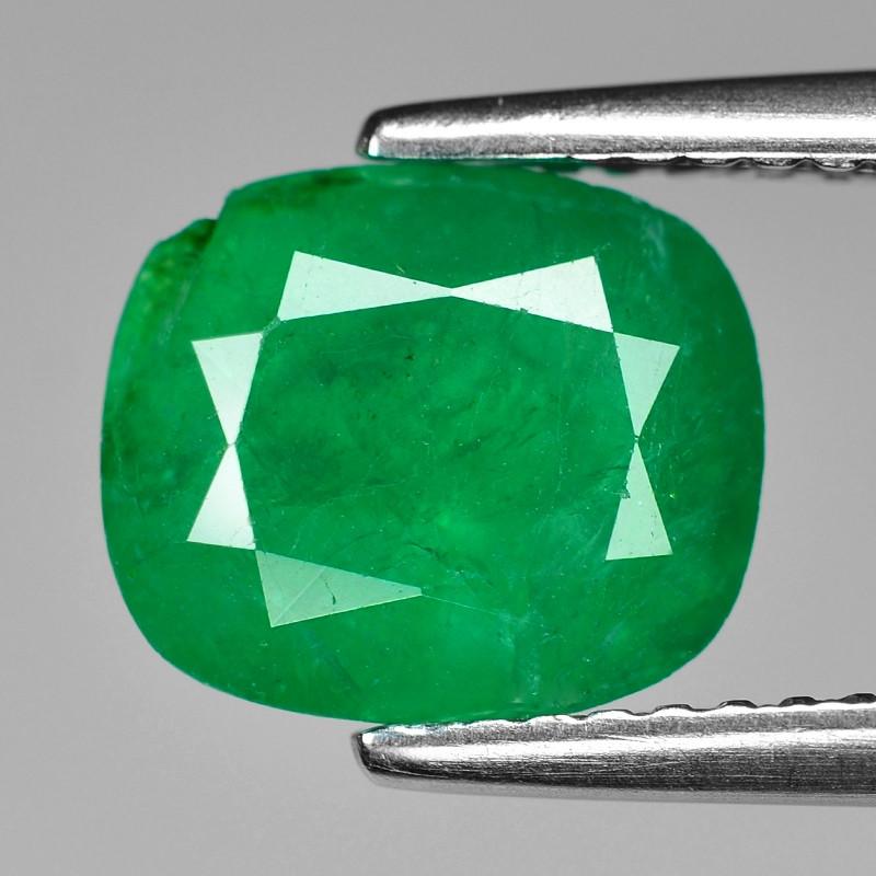 2.12 Cts Natural Vivid Green Colombian Emerald Loose Gemstone