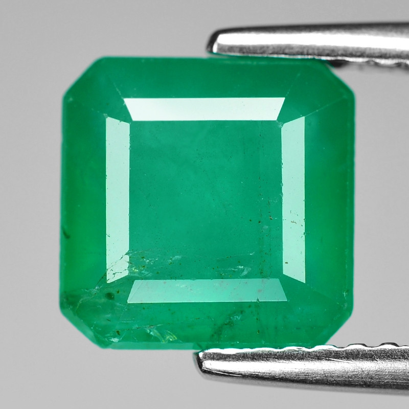 2.89 Cts Natural Vivid Green Colombian Emerald Loose Gemstone