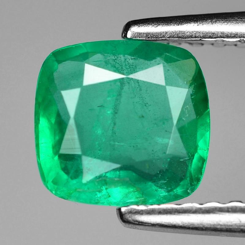 0.99 Cts Natural Vivid Green Colombian Emerald Loose Gemstone