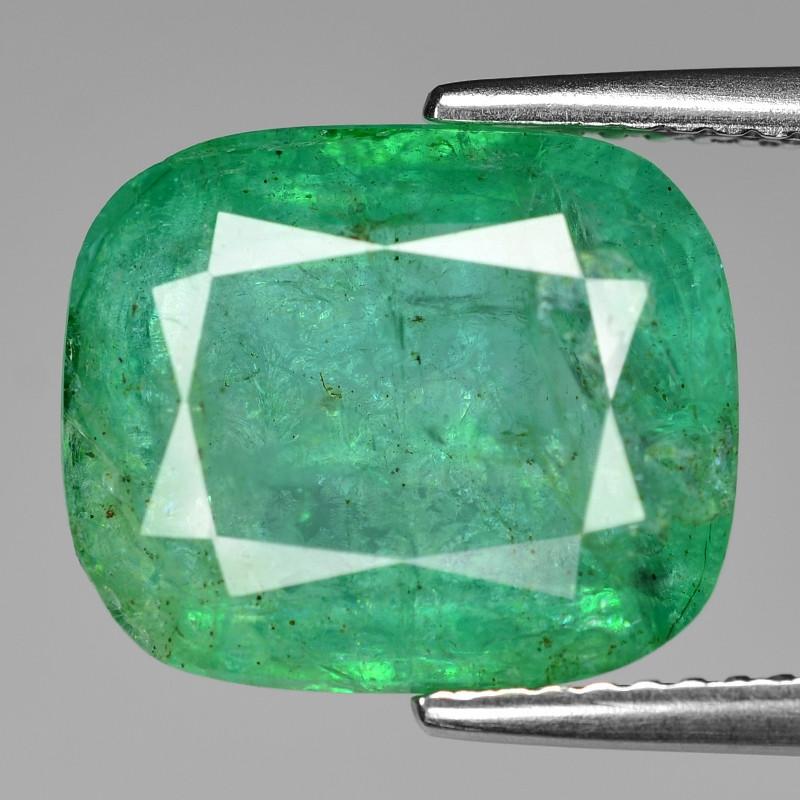 6.24 Cts Natural Vivid Green Colombian Emerald Loose Gemstone