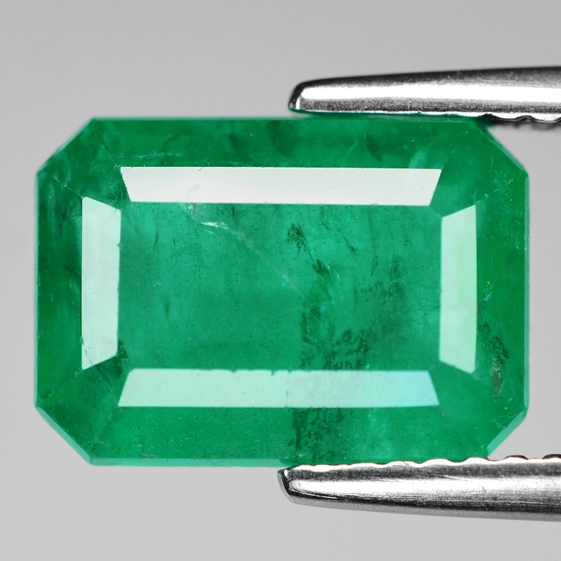3.66 Cts Natural Vivid Green Colombian Emerald Loose Gemstone