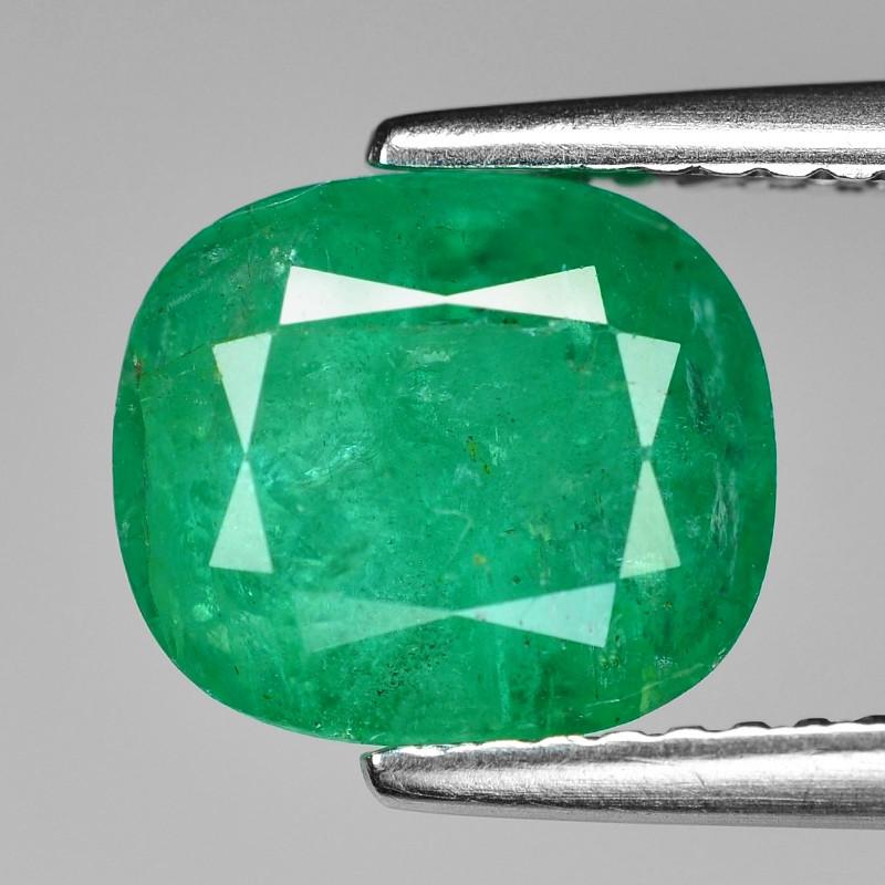 2.48 Cts Natural Vivid Green Colombian Emerald Loose Gemstone
