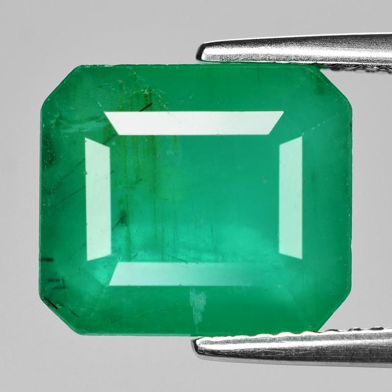 6.67 Cts Natural Vivid Green Colombian Emerald Loose Gemstone