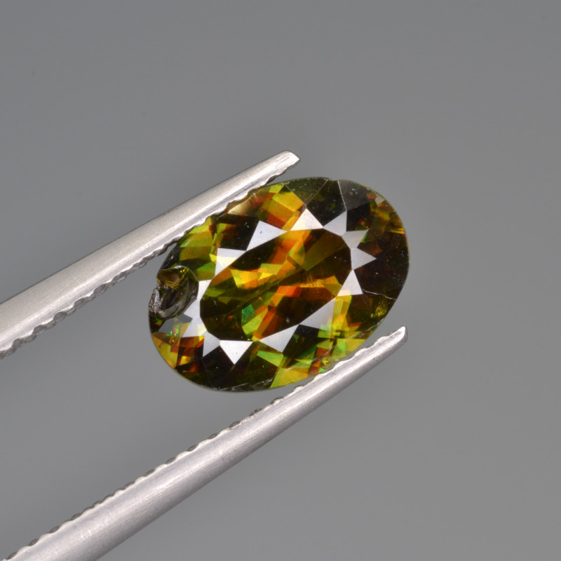 Natural Color Changing Chrome Sphene 1.91 Cts from Skardu, Pakistan