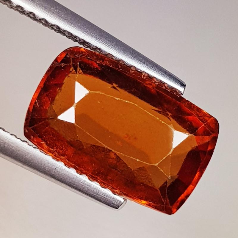 4.34 ct AAA Grade Gem Rectangular Cut Natural Hessonite Garnet