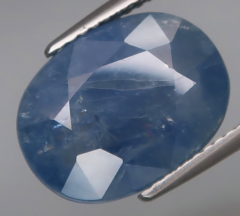 10.73 Ct.  Cornflower Blue UNHEATED Natural Earth Mined Sapphire Ceylon, Sr