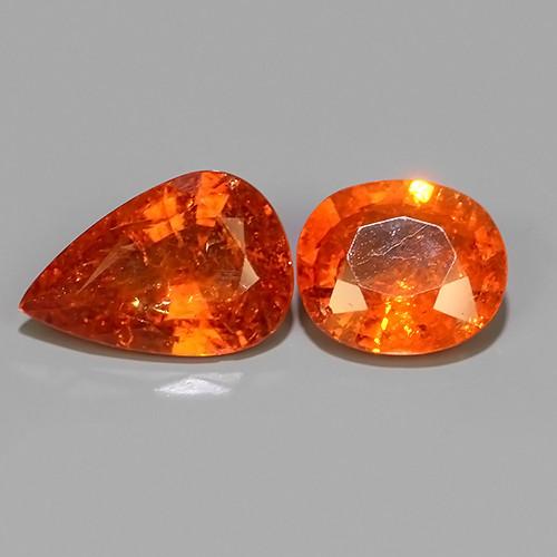 4.75 Cts~Natural Shocking Fanta Orange Spessartite Garnet Namibia, Amazing!