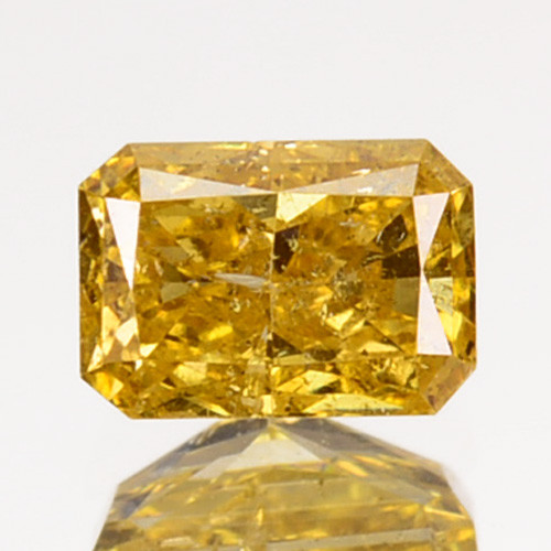 ~UNTREATED~ 0.26 Cts Natural Yellow Diamond Octagon Africa