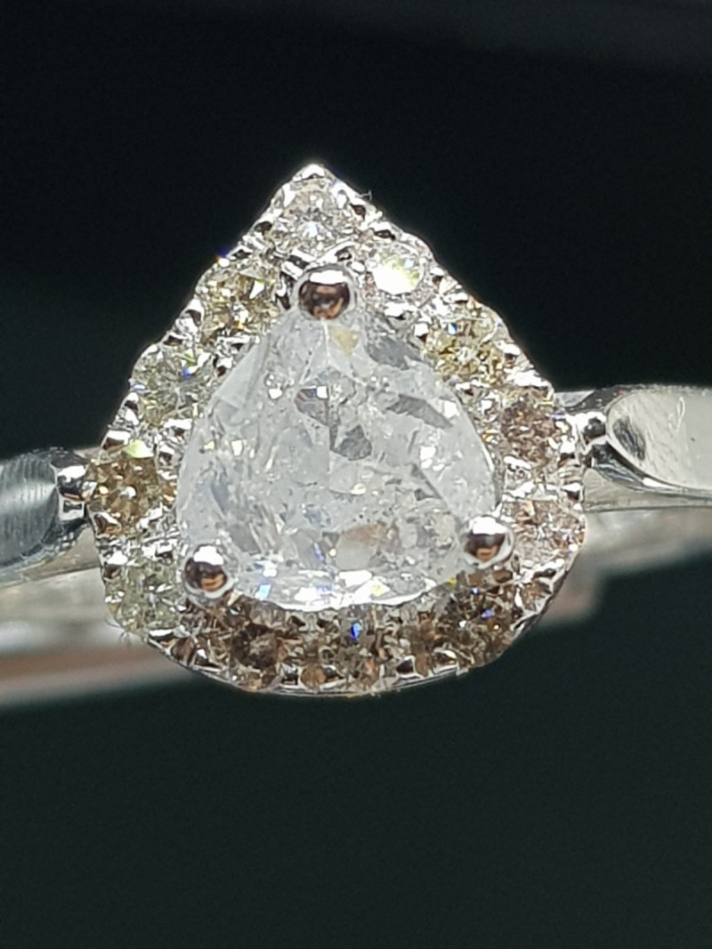 Certified  1.12ct Diamond Ring , 14kt White Gold.