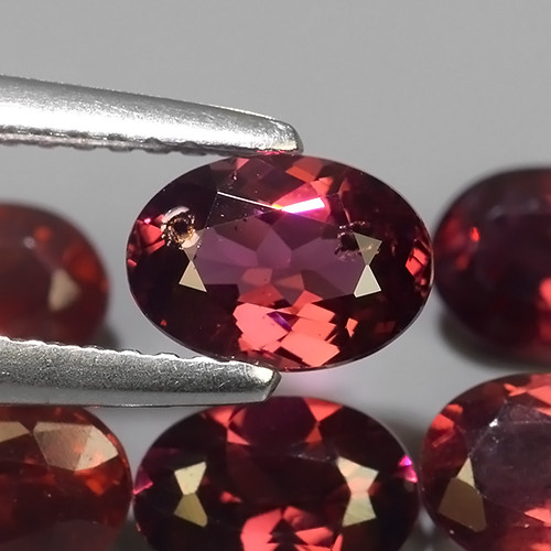 5.80 CTS EXQUISITE NATURAL UNHEATED PURPLE-PINK COLOR OVAL RHODOLITE GARNET