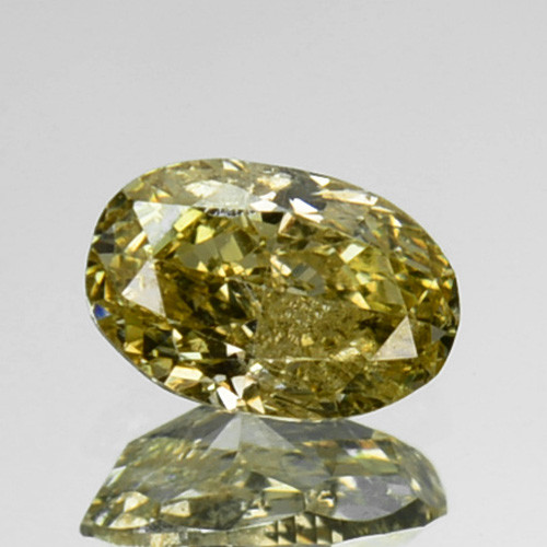 ~UNTREATED~ 0.14 Cts Natural Diamond Fancy Yellow Oval Cut Africa